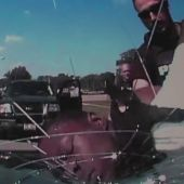 Dashcam video shows officers crack windshield with suspect's face