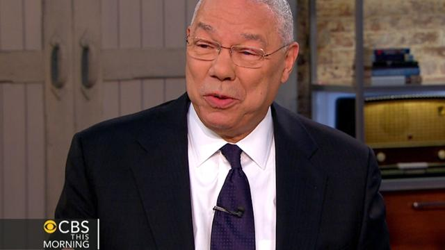 Colin Powell, Gayle King sing