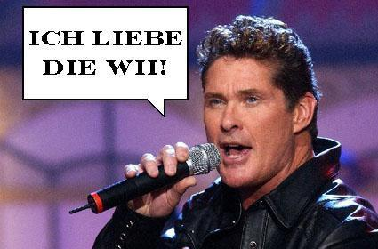 Germans love David Hasselhoff (and now the Wii)