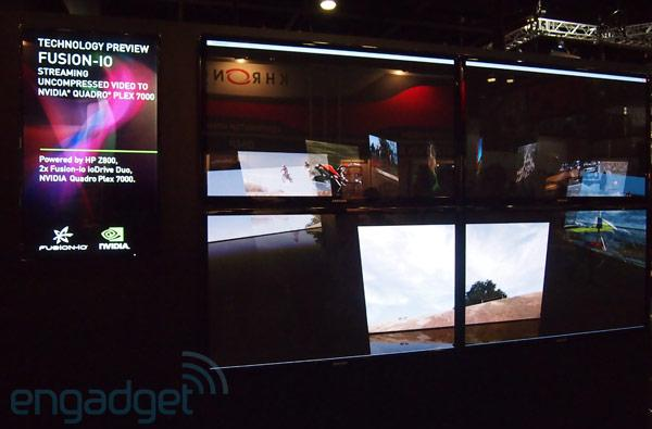 NVIDIA, Fusion-io and HP drive a dozen 1080p streams on four displays at SIGGRAPH (video)