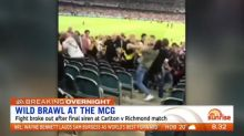 Wild brawl breaks out at first AFL match of the year