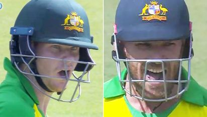 Smith and Aaron Finch in ugly on-field blow-up