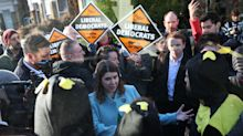 Jo Swinson Just Had An Argument With Some People Dressed As Bees
