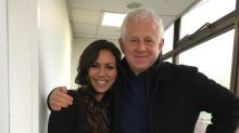 Richard Curtis snapped with Love Actually ex-child star Olivia Olson