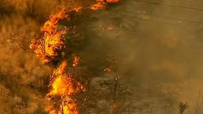 Raw: Wildfire Tears Through Washington