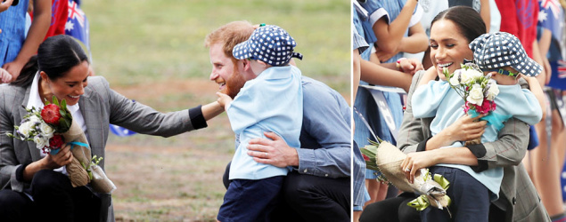 'Not a dry eye': Moment Dubbo boy, 5, charmed Harry and Meghan