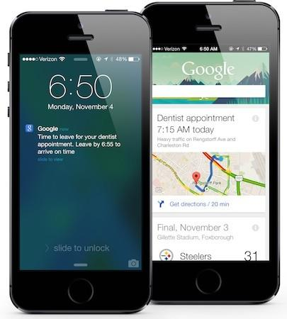 Google Now updated for iOS, brings notifications, reminders, new cards and hands-free voice controls