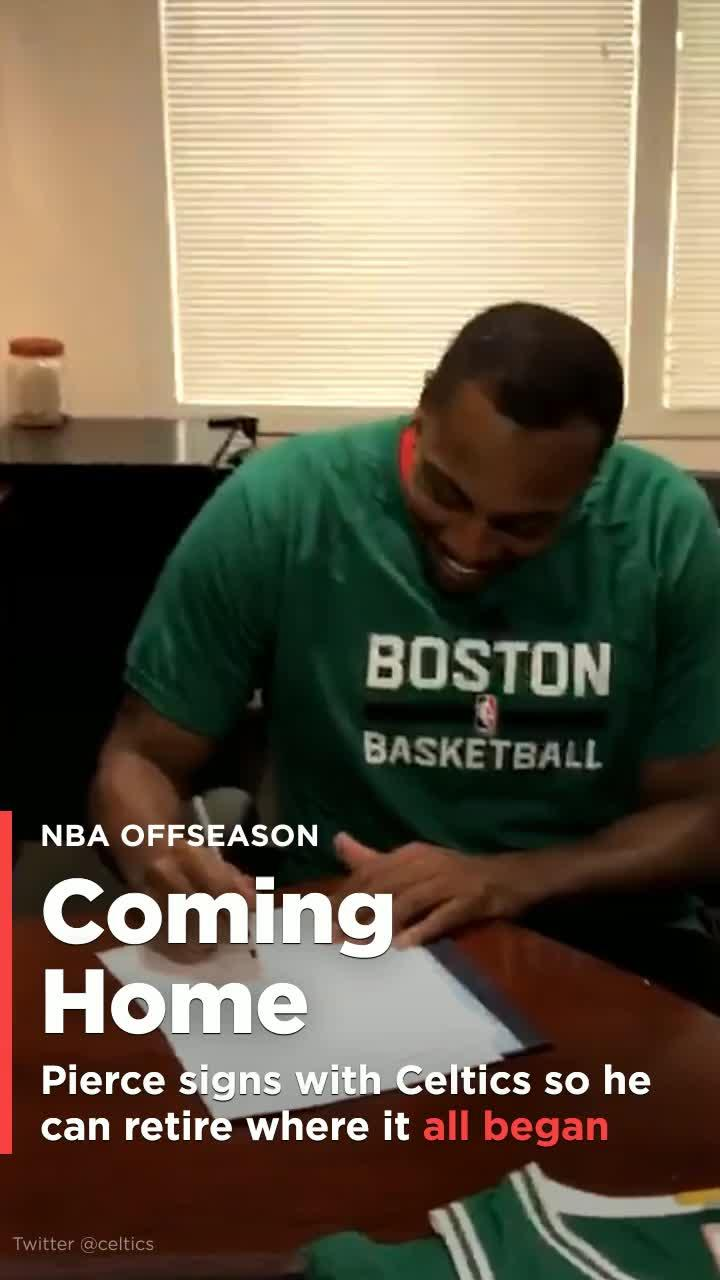 Paul Pierce Signs With Celtics So He Can Retire Where It