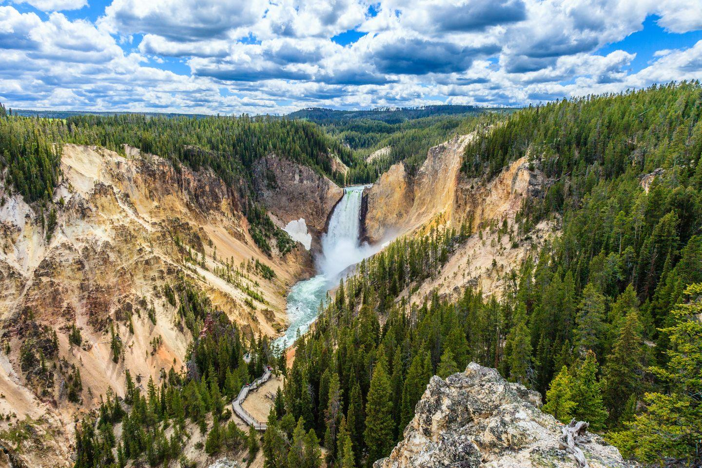 "<p>Yellowstone was established as the world's first national park in 1872, but it has been used for thousands of years as a place for tribes, bands, animals, and vegetation to flourish and call home. This magnificent park is home to world-famous sites, like Old Faithful, <a href=""https://www.veranda.com/travel/g33337870/most-colorful-places-in-the-world/"" rel=""nofollow noopener"" target=""_blank"" data-ylk=""slk:Grand Prismatic Spring"" class=""link rapid-noclick-resp"">Grand Prismatic Spring</a>, and the Grand Canyon of Yellowstone (shown here). </p>"