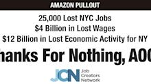 Times Square billboard blasts Ocasio-Cortez for Amazon exit from NYC