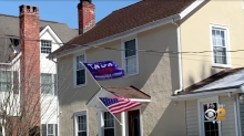 Flag with 'Trump 2020' and 'No More Bulls***' is flying outside of a school and parents are upset