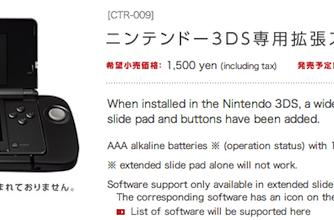 Nintendo 3DS slide pad add-on is official, ships December 10th in Japan