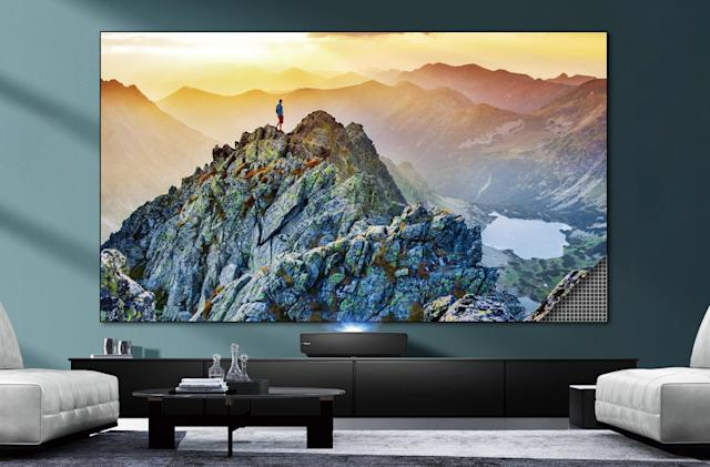 Hisense's $4,000 laser projector comes with a 100-inch screen