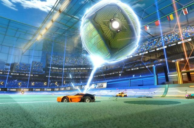 'Rocket League' update brings grappling hooks and giant boots