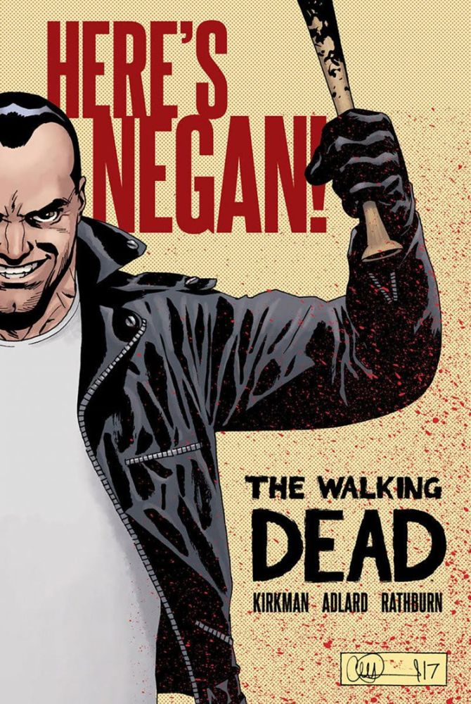 The Walking Dead: Here's Negan hardcover. (Credit: Image Comics)