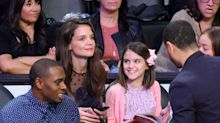 Katie Holmes and Mini-me Daughter Suri Cruise Are All Smiles at Lakers Game