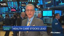 Health-care stocks lead market at the open