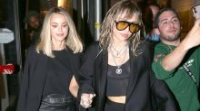 Miley Cyrus and Kaitlynn Carter Wear Complementary Outfits as They Enjoy PDA-Packed Night Out in NYC