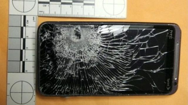 Cellphone Stops Bullet During Robbery