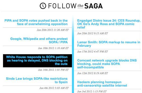 Introducing 'Follow The Saga': the whole story, regardless of where you jump in