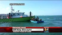 Migrants Come Ashore On Key Biscayne