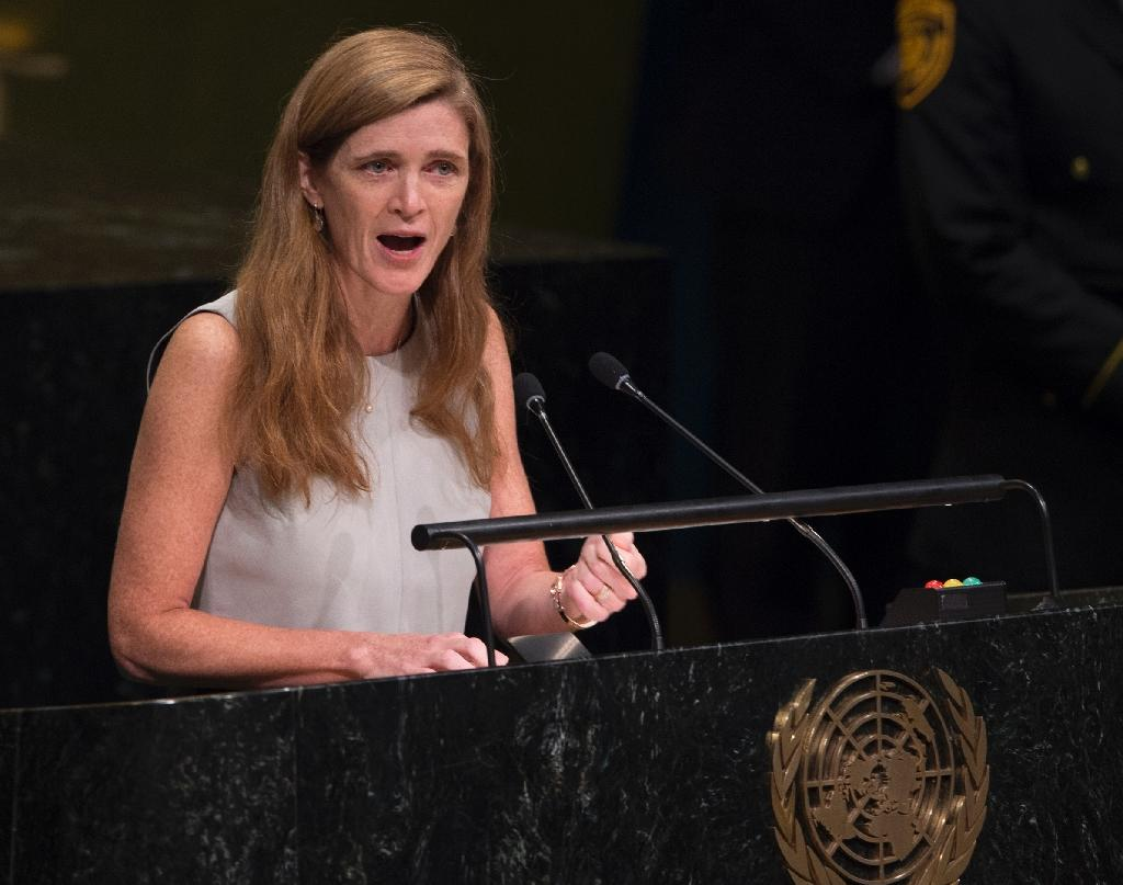"US Ambassador to the UN Samantha Power, seen in October 2016, warned that cutting US funding to the United Nations would be ""extremely detrimental"" to the country's own interests (AFP Photo/DON EMMERT)"
