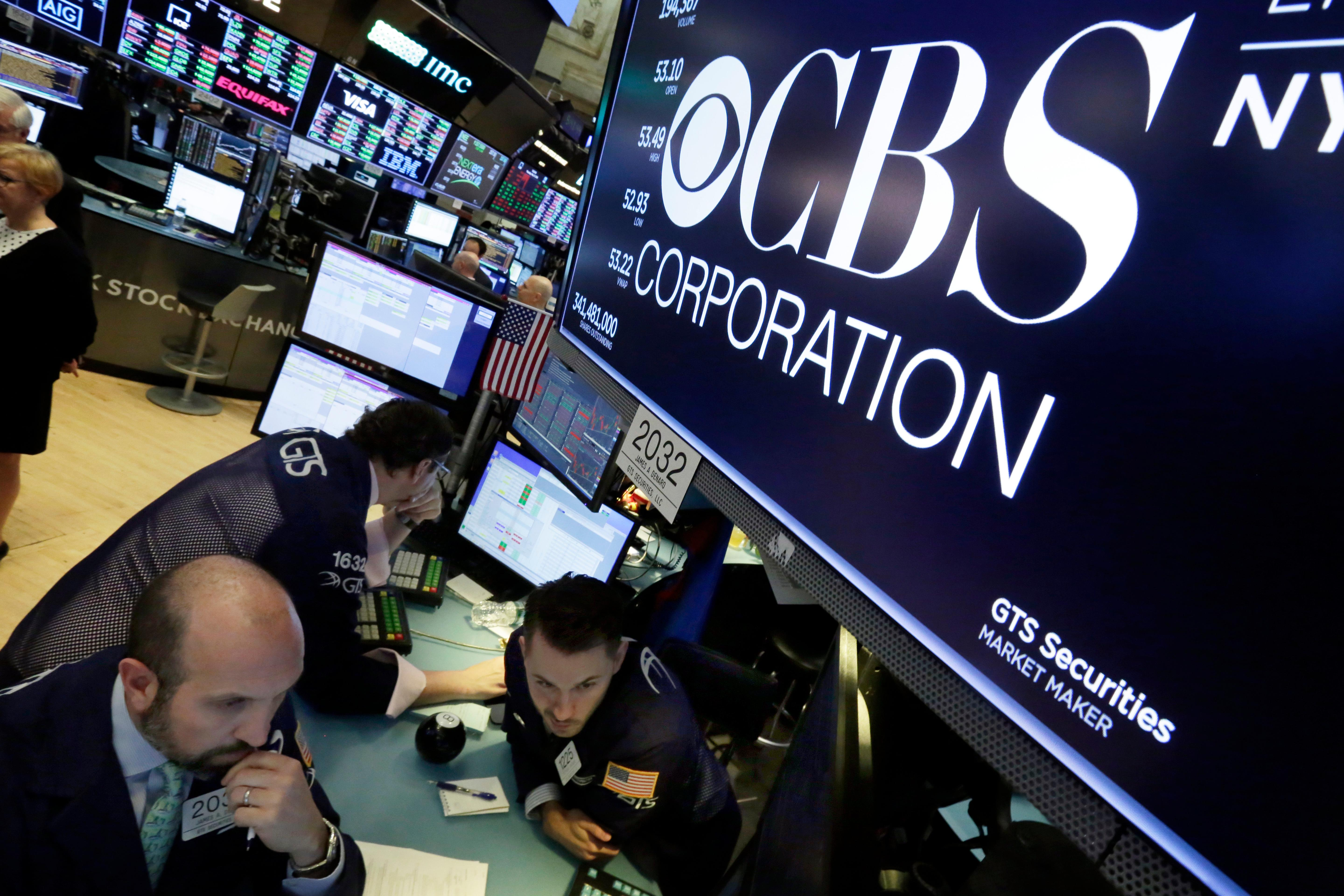 CBS stock price sinking on Les Moonves report about sexual misconduct recommendations