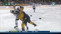 James Sheppard and Kevin Klein scrap
