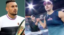 Nick Kyrgios takes shot at female star over brutal handshake sledge