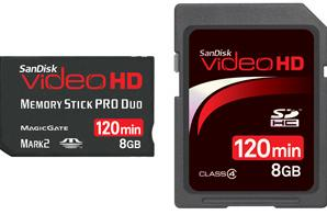 SanDisk launches HD Video flash card line