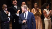 Prince Harry sang on stage at Hamilton last night and people can't get enough