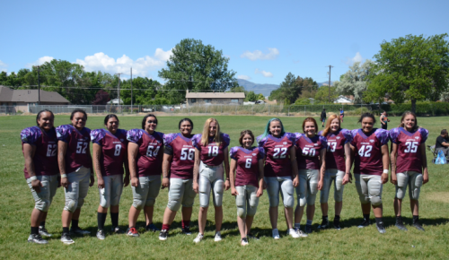 Sam Gordon, No. 6, is leading a charge high schools to begin girls' football. (Courtesy of Brent Gordon)