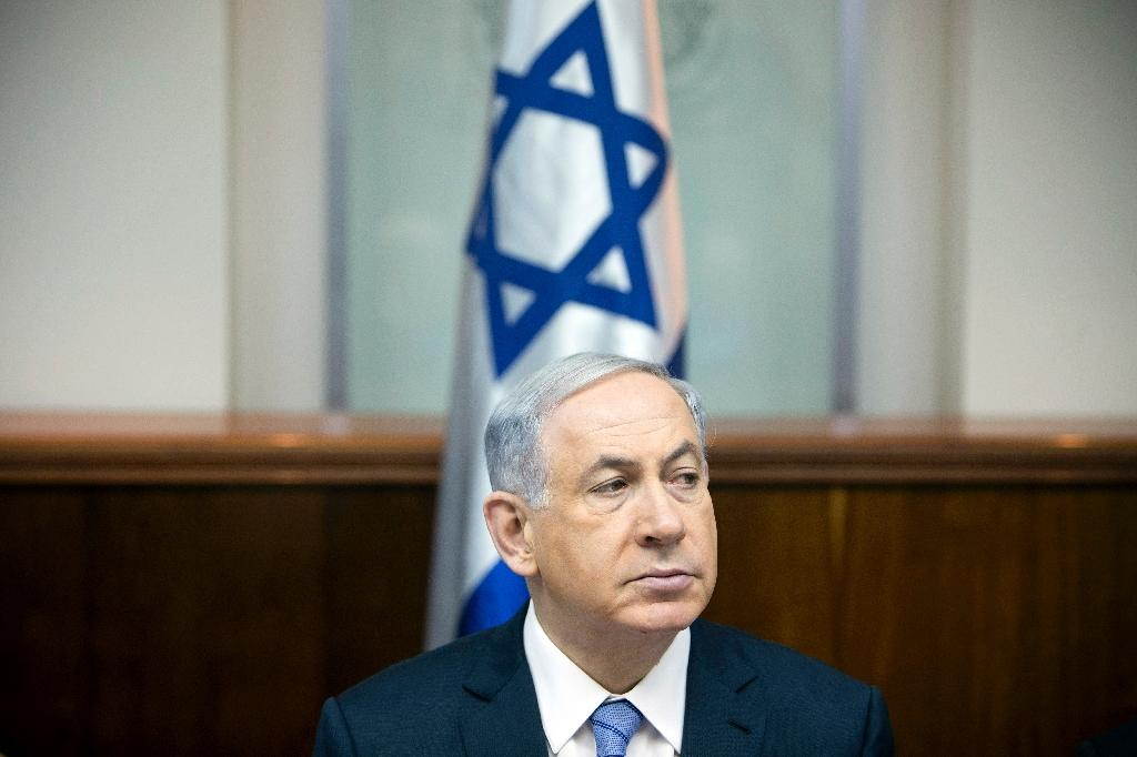 Israeli Prime Minister Benjamin Netanyahu pictured during the weekly cabinet meeting at his Jerusalem office on January 4, 2015 (AFP Photo/Oded Balilty)