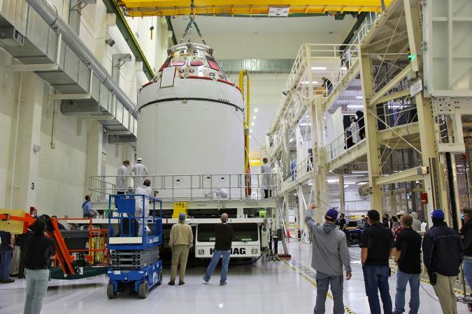 Lockheed Martin Orion-Artemis-I spacecraft at NASA.