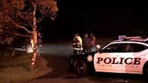 Police searching for suspect who jumped into creek