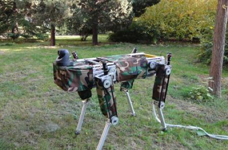 Chinese robotic triceratops skeleton packs Linux, no horns