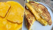 This 'bread omelet' is the most genius way of making an egg sandwich