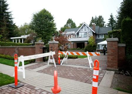 A view shows the home of Huawei Technologies Chief Financial Officer Meng Wanzhou at 1603 Matthews Avenue in Vancouver