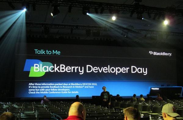 Live from the BlackBerry Developer Conference 2010 keynote!
