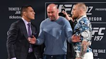 Rafael dos Anjos mocks Conor McGregor for tapping out: 'Be a man'