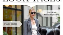 Look des Tages: Rosie Huntington-Whiteley im modernen Business-Outfit