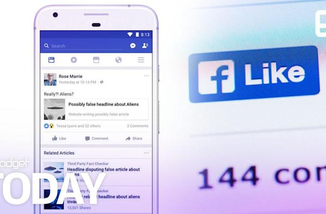 Facebook's related articles will add fact to fake news shares