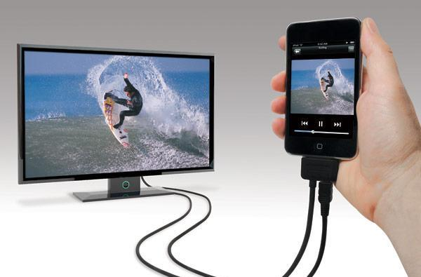 Scosche Sneakpeek II adds component / composite video cables to your iPhone, iPod and iPad