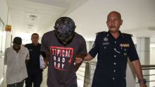 Two claim trial over parang attack caught on video