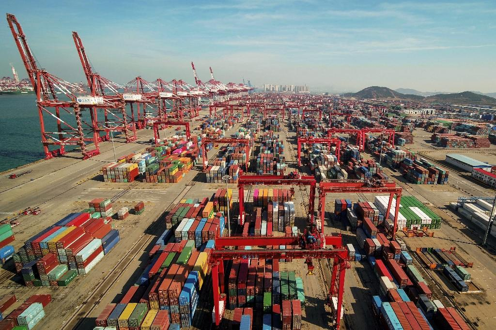 Data suggests China's economy, the world's second biggest and a key driver of global growth, is beginning to feel the pinch from the US trade war (AFP Photo/STR)
