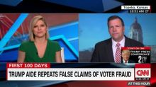 Kansas official spars with CNN over voter fraud claim, but fails to provide evidence