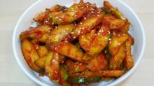 韓式涼拌辣青瓜 오이모침