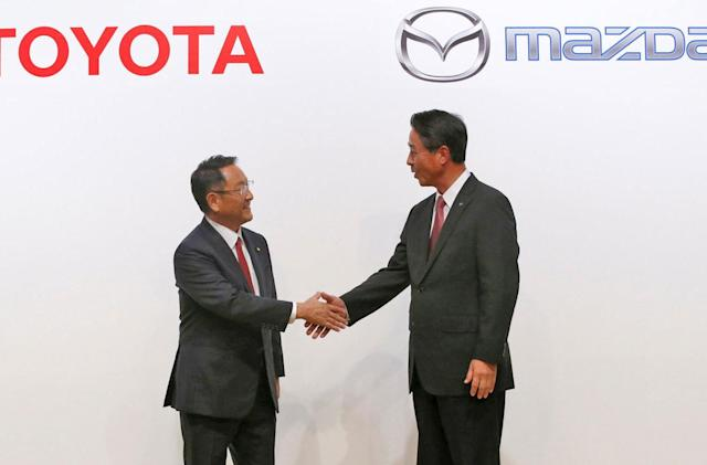 Toyota and Mazda will work together to build EVs