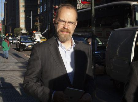 Messinger, chief technology officer of Twitter, arrives at Morgan Stanley as part of the Twitter Roadshow in advance of the firm's IPO in New York