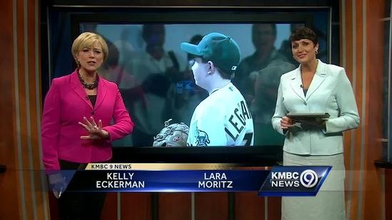 Boy hurls 1st pitch for Oakland game -- from Kansas City
